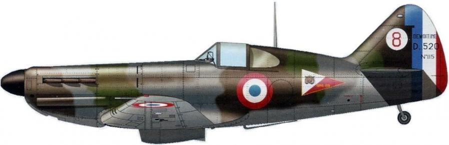 Dewoitine d520 no 115 sous lieutenant jean parisse gc i 3 wez thuisy mai 1940
