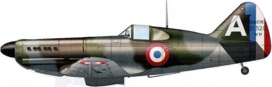 Dewoitine d520 no 31 cazaux mai 1940