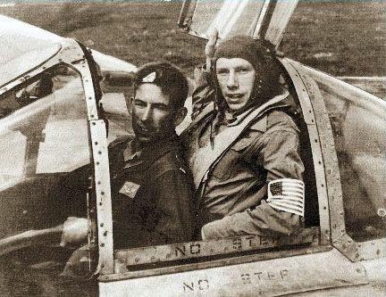 Dick andrews and dick willsie in the p 38 cockpit