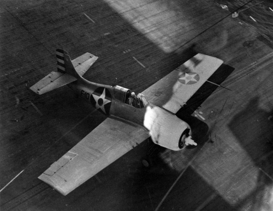 F4f 3 code f 10 vf 6 uss enterprise cv 6 1942 u s navy photo 80 g 73679