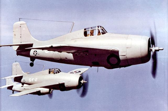 F4f 3 wildcats of vf 5 in flight c1941