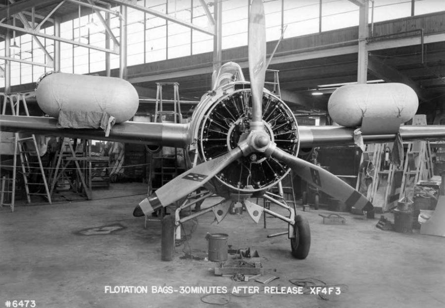 Flotation bag testing on the xf4f 3 1