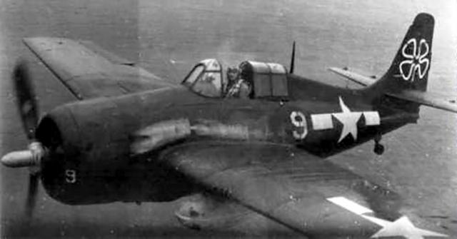 Fm 2 wildcat vc 93 cve 80 uss petrof bay 1945