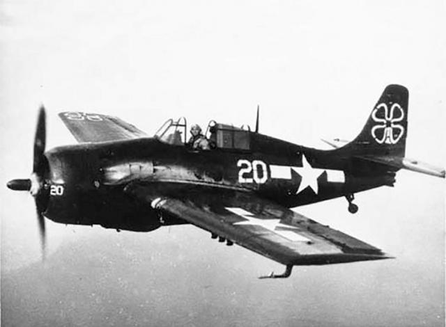 Fm 2 wildcat vc 93 cve 80 uss petrof bay okinawa 1945