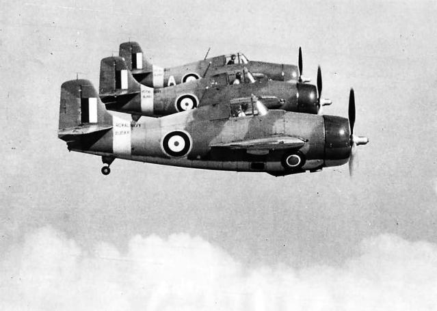 Formation of grumman f4f martlets of no 804 squadron fleet air arm 1941