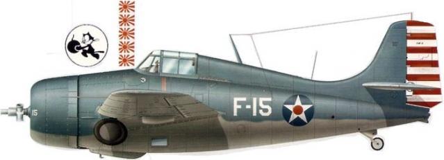 Grumman f4f 3 buaer 4031 edward h o hare uss lexington
