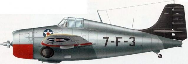 Grumman f4f 3 vf 7 uss wasp 1940