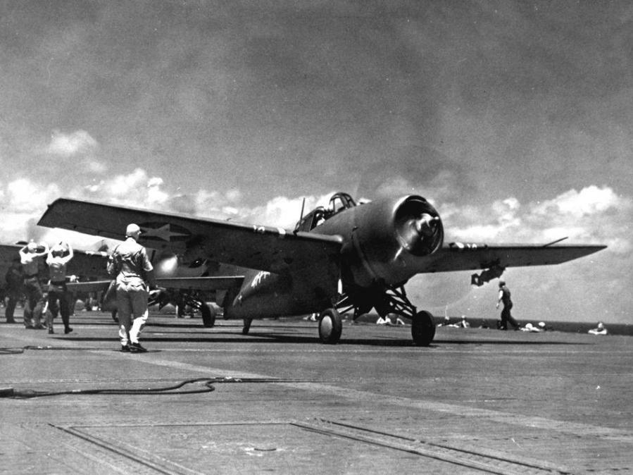 Grumman f4f 3 wildcat vf 41 uss ranger cv 4 1942 us navy national naval aviation museum nnam 1996 253 7386 007