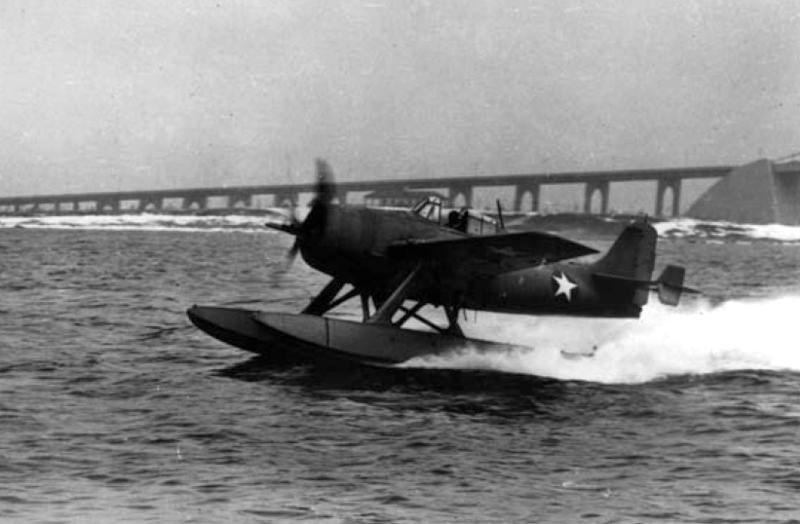 Grumman f4f 3s wildcatfish nas norfolk 1943