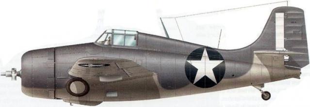 Grumman f4f 4 vmo 155 uss nassau