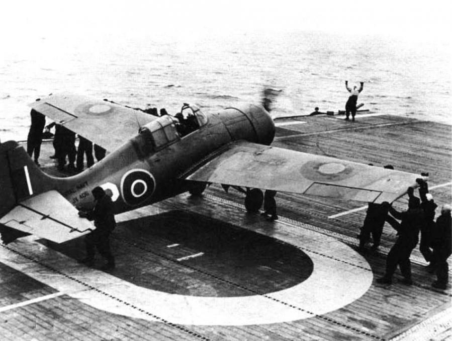 Grumman martlet v no 861 squadron hms purser