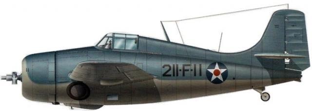 Grumman wildcat f4f 3 vmf 211