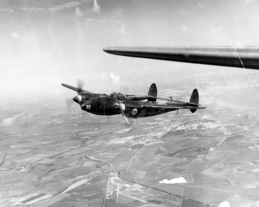 Lockheed f 5a lightning 90th photographic reconnaissance wing 12th air force fre 10109