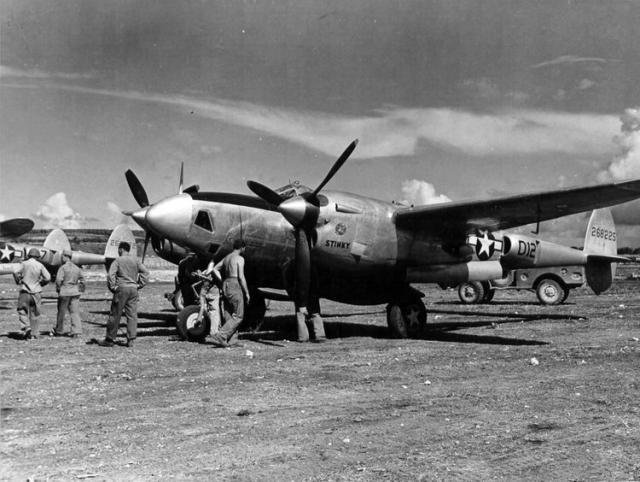 Lockheed lightning f 5b marianas islands