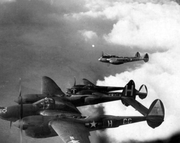 Lockheed p 38 38th fs 55th fg