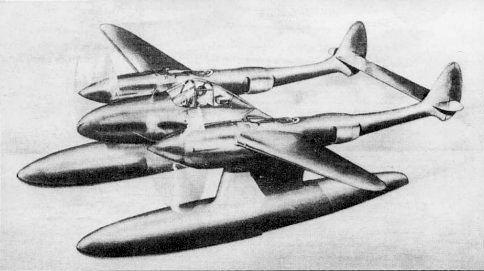 Lockheed p 38 floatplane project lockheed