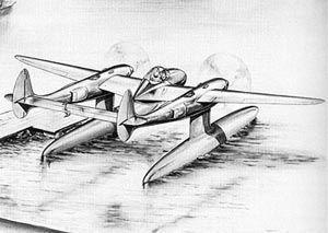 Lockheed p 38 floatplane project