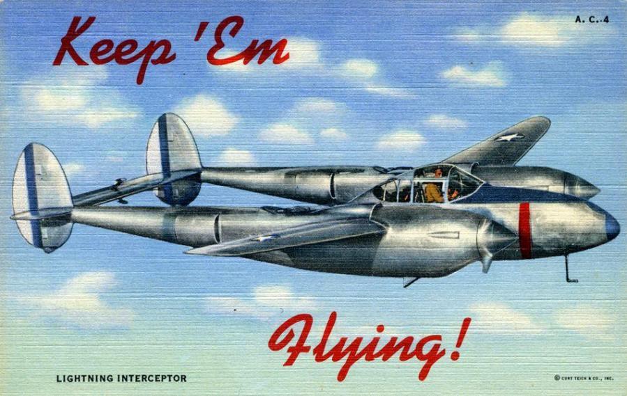 Lockheed p 38 keep em flying