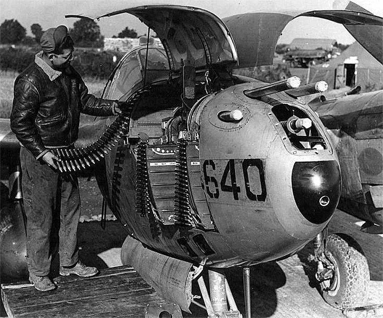 Lockheed p 38 lightning nose guns