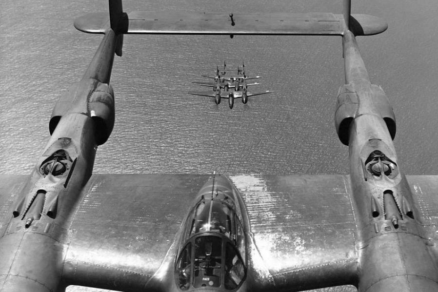 Lockheed p 38 lightning x 4