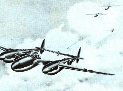 Lockheed p 38 towing glider project