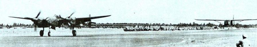 Lockheed p 38 towing waco glider