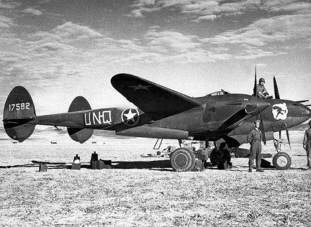 Lockheed p 38f 41 7582 94th fs 1st fg northern africa 1942