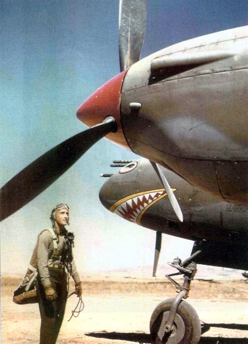 Lockheed p 38f lightning 37th fs 14th fg james holingsworth youks les bains 1943