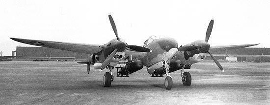 Lockheed p 38f with two torpedoes