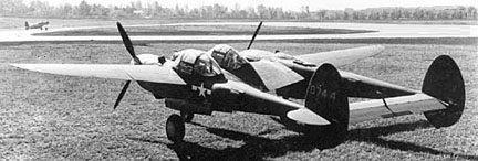 Lockheed p 38l lo lightning 40 744 rear view