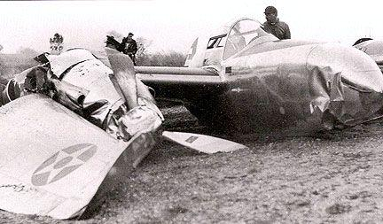 Lockheed xp 38 37 457 crash landing
