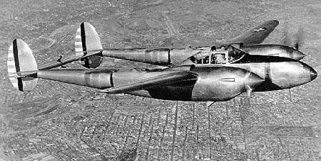 Lockheed xp 38a in flight