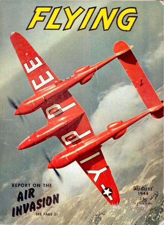 Magazine flying 1944 p 38 lightning yippee