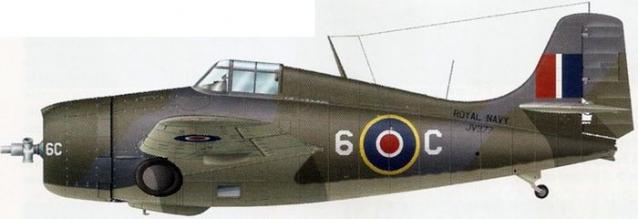 Martlet mk v 822 sqn hms searcher 1944