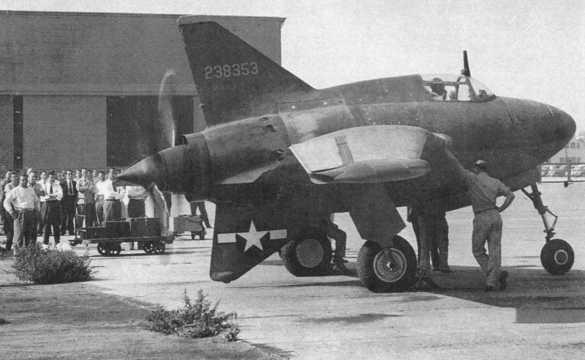 Northrop xp 56 2nd prototype