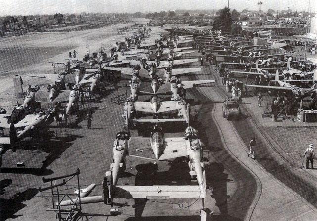 P 38 assembly burbank