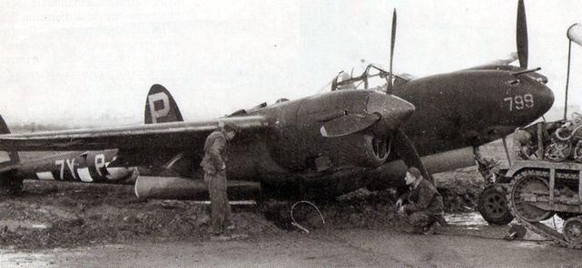 P 38 belgium 1944