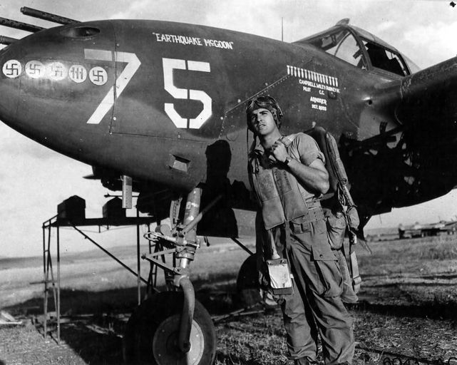 P 38 earthquake mcgoon lt richard a campbell 37th fs 14th fg
