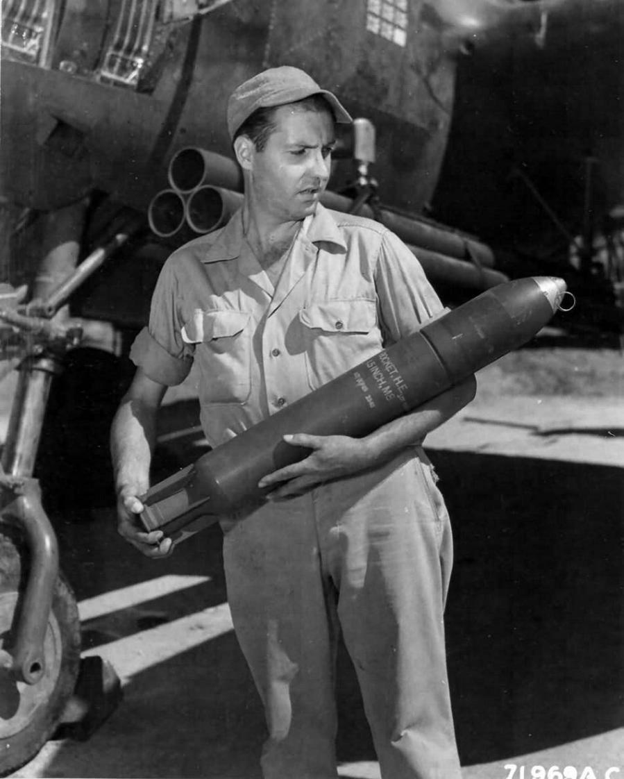 P 38j 10 lo lightning 42 67842 bazooka rocket tubes 459th fs major willard webb