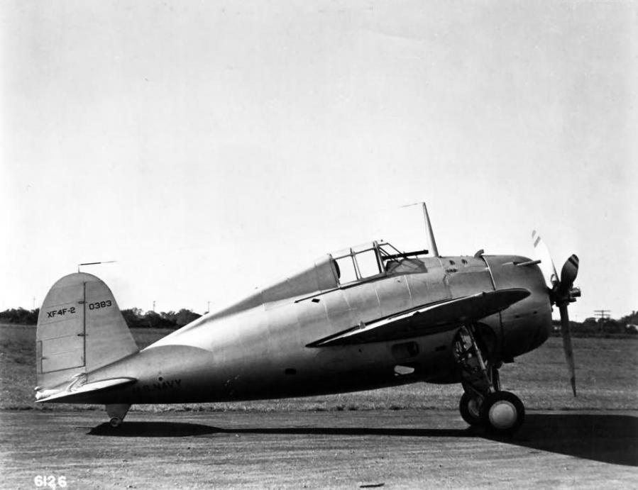 Prototype grumman xf4f 2 buno 0383 bethpage grumman aircraft engineering corporation photo