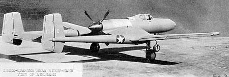 Vultee xp 54 rear view