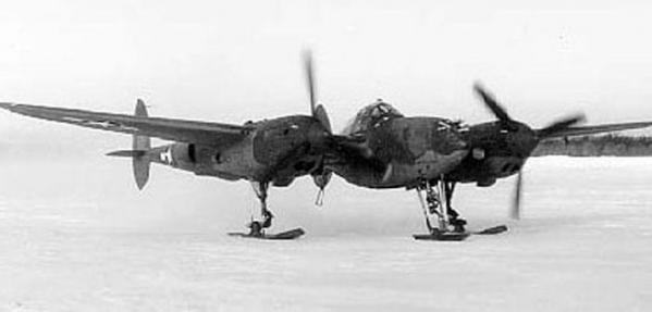 Wwii p 38 with skis